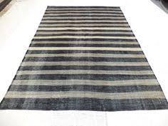 Large Kilim Rugs Large Black And White Stripe Kilim Rug 10 6