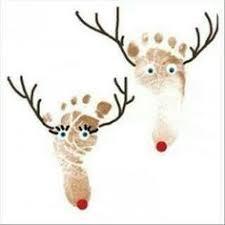 salt dough crafts reindeer footprint ornaments salt dough