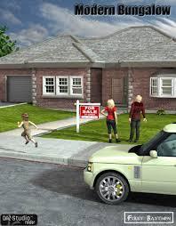 modern bungalow 3d models and 3d software by daz 3d