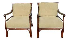 Palecek Chairs Brittany U0026 Sondra U0027s Item 18128 Palecek Colonialwood Club Chairs