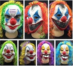 Scary Clown Halloween Costumes Scary Clown Mask Joker Mens Face Party Horror Funny Women