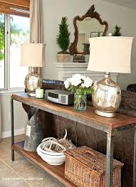 Decorating A Sofa Table The Sofa Table Like This One Sofa Side Table Diy