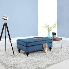 Extra Large Storage Ottoman by Blue Storage Benches Extra Storage With Styles Elegant