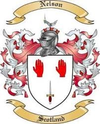 nelson family crest from scotland by the tree maker