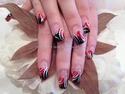 nail art red and black nail art designs