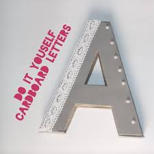 Decorated Letters For Nursery 3d Cardboard Letters Room Decor
