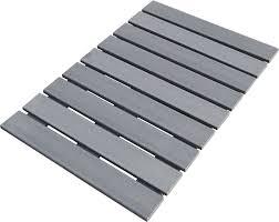 tappeti doccia pedana doccia in legno ecotech grigio cm 55x68 linea bagno