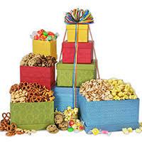 popcorn gift towers by kingofpop