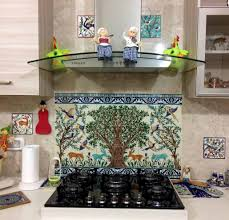 Kitchen Backsplash Mural Kitchen Custom Tiles And Tile Mural Pictures Murals Copper Kitchen