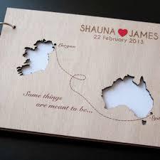 photo album guest book custom wedding map guest book wood rustic from totallysalinda on