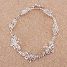 butterfly link bracelet images Sterling silver filigree butterfly link bracelet from peru jpg