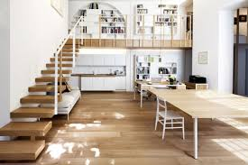 House Plans With Mezzanine Floor by Wooden Stairs Mezzanine T House In Sant U0027ambrogio Milan By