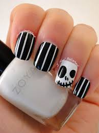 i feel polished happy halloween jack skellington nails