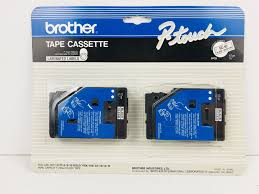 how to install brother p touch tape brother p touch tc 10 tape cassette 2 pack pt 6 8 10 gold 170k 150
