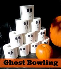 ghost bowling halloween party game