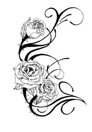 rose vines tattoo for girls