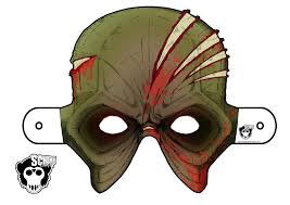 scheme 9 the scheme comix cut out and keep halloween zombie mask