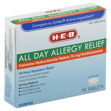 h e b all day allergy relief 24 hour original prescription