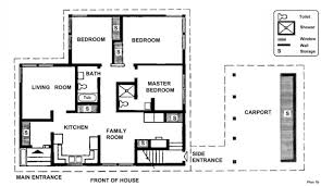 Ranch House Plans With 2 Master Suites by 3 Bedroom Country Floor Plan Home Decorating Interior Design
