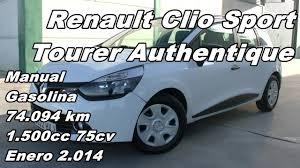 renault clio sport tourer manual gasolina 74 094km 75cv en
