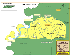 Tennessee Map Of Counties by Tipton County Tennessee Century Farms