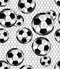 football soccer theme seamless pattern in sketch style vector