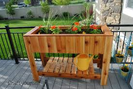 cedar flower planter box craft