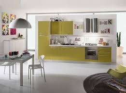 contemporary minimalist kitchen design ideas yellow color cabinet