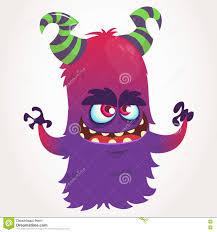 cute purple monster cartoon stock photography image 34612782