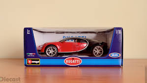 toy bugatti bburago 1 18 bugatti chiron u2013 unboxed u2013 xdiecast