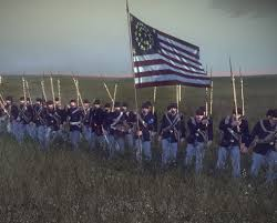 Civil War Union Flags Union Infantry On The March Follow The Flag Image North
