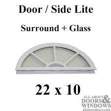 exterior door glass insert replacement wagon wheel half circle lite glass with grid round top