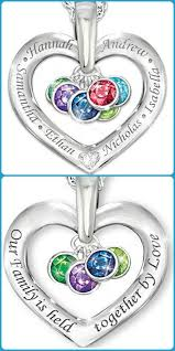 children s birthstone necklace mothers necklace with kids names thrill this year