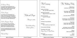 Simple Wedding Program Templates Free Wedding Bell Program Templates 2434992 Top Wedding Design