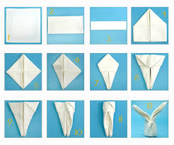 easter napkins napkins placed with different shapes style etiquette proper