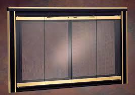 modern glass fireplace doors fireplace doors portland willamette insight classic stock and