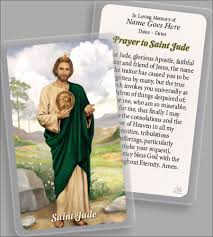 personalized holy card funeral bereavement page 1 of 1