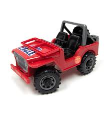 red jeep off road jeep by bruder