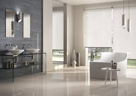 masculine bathroom decoration with white chairs bath tub and glass