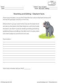 revising and editing worksheets worksheets