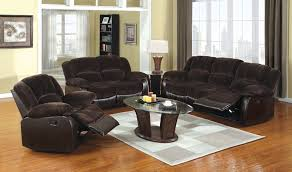 Brown Recliner Sofa Two Tone Reclining Sofa And Loveseat Set