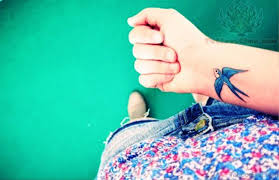 13 cool blue bird tattoos on wrist