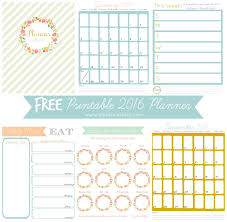 printable monthly planner 2016 free cute printable monthly planner 2016 yspages com