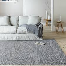 Modern Floor Rug Woven Wool Floor Rug Flatweave Navy Honeycomb Modern Carpet