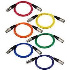 amazon gls audio 3ft patch cable cords xlr male xlr