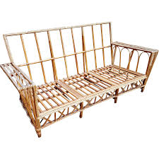 vintage 1920 u0027s natural stick wicker sofa from dovetail on ruby lane