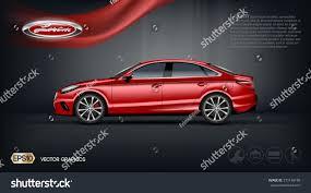 car ads in magazines digital vector red model sedan car stock vector 570146188