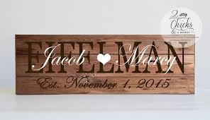 customized wedding gift family name sign customized wedding gift personalized family