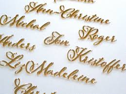 personalized laser names wedding place table cards wedding