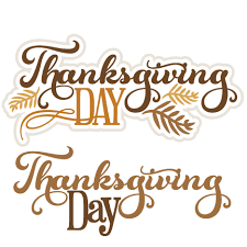 thanksgiving day titles svg cut files for scrapbooking